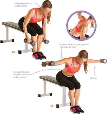 women's health - REVERSE DUMBBELL FLY