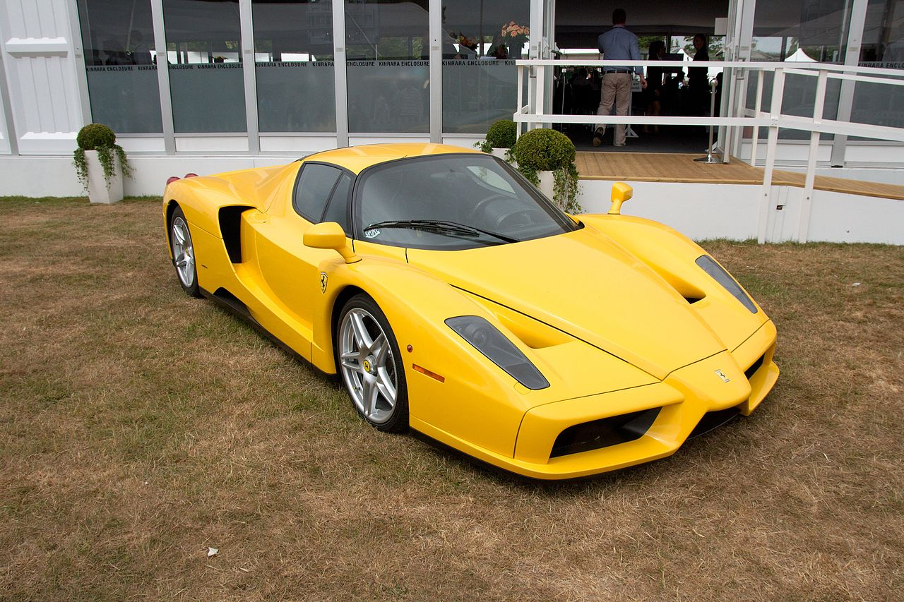 Wallpaper Sport Cars Yellow Ferrari Enzo Warna Kuning