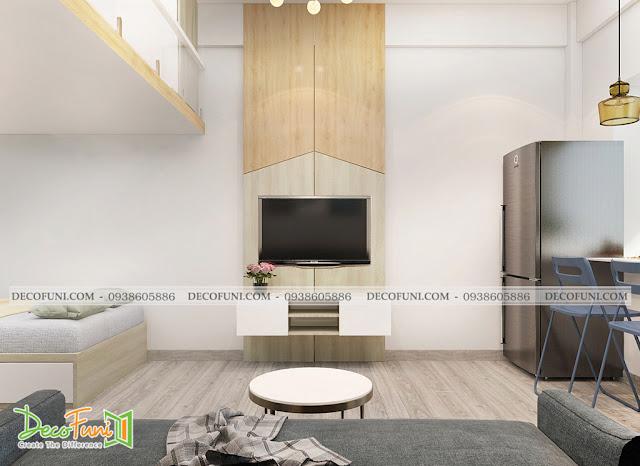 Nội thất phòng khách chung cư 30m2 - Đẹp lung linh