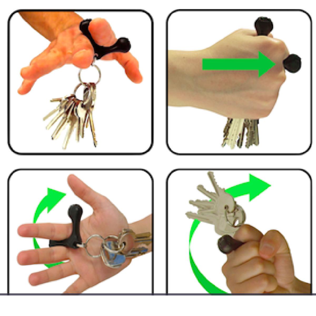 Voici comment tenir et servir du porte-clés de self-défense Yoogo