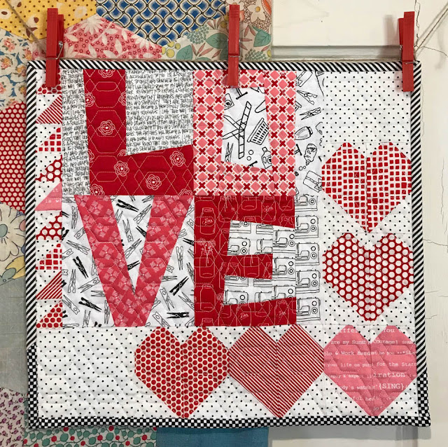 Love Mini Quilt by Thistle Thicket Studio. www.thistlethicketstudio.com