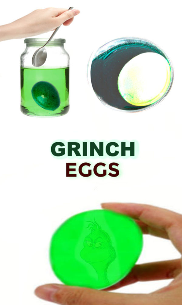 FUN KID SCIENCE: Make Grinch Eggs!  This is so cool! #grincheggs #scienceexperimentskids #christmasactivitiesforkids #christmascrafts #grinchcrafts #grinchcraftsforkids #grinchactivitiesforkids
