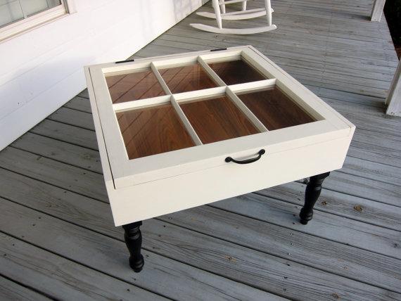 plantation design sash window coffee table shadow box with antique pine interior