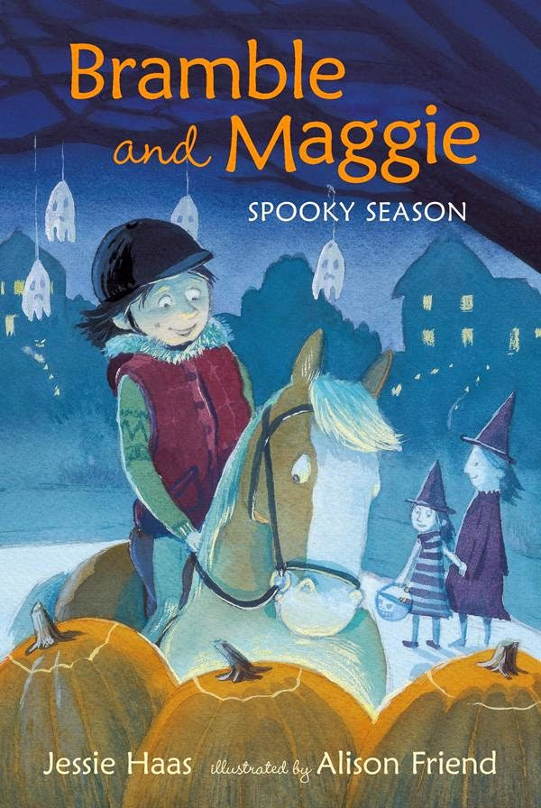 Bramble and Maggie Spooky Season by Jessie Haas book cover