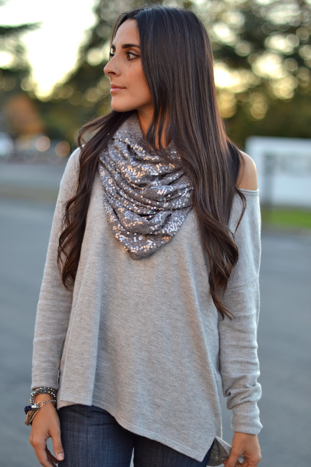 Restyle Restore Rejoice Diy Sequined Scarf