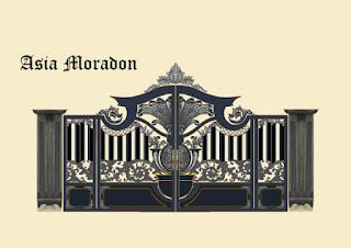 Desain, Gerbang, Design, Besi, Tempa, Klasik