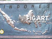 Hiasan Dinding Peta Indonesia Tembaga