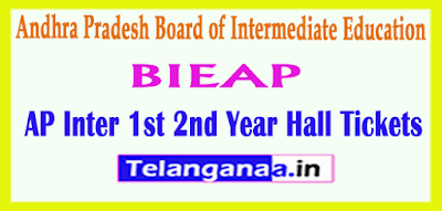 Andhra Pradesh Inter 1st 2nd Year Hall Tickets