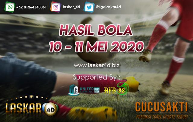 HASIL BOLA JITU TANGGAL 10 – 11 MEI 2020