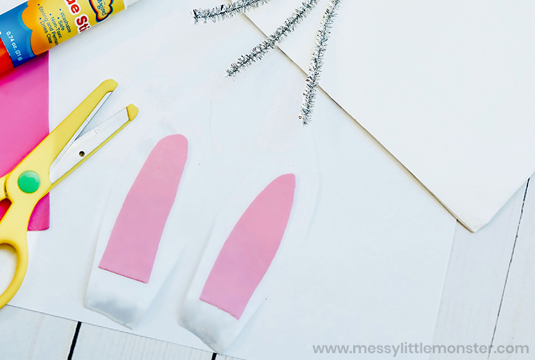 Bunny paper bag craft