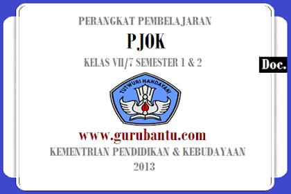 Perangkat Pembelajaran [PJOK] Kelas [7] Kurikulum 2013 Revisi Terbaru