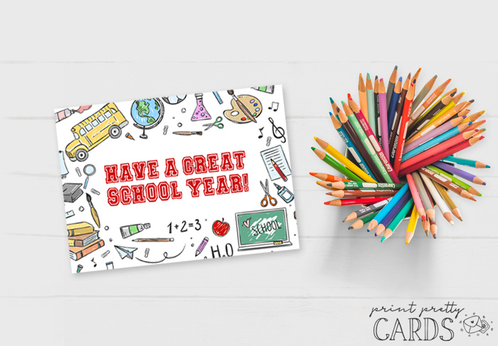 Free Printable Back to School Card