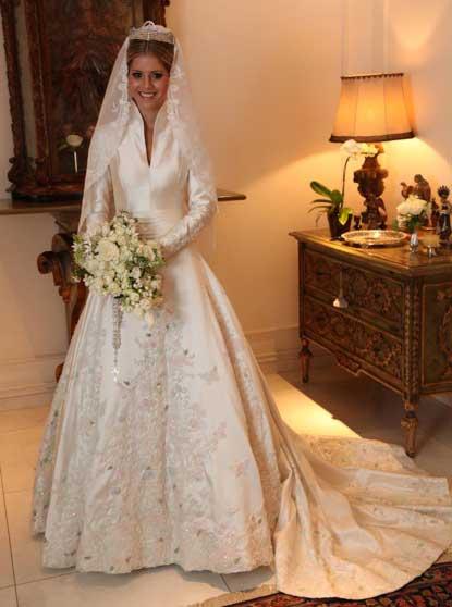 Lala Rudge vestido de noiva por Sandro Barros