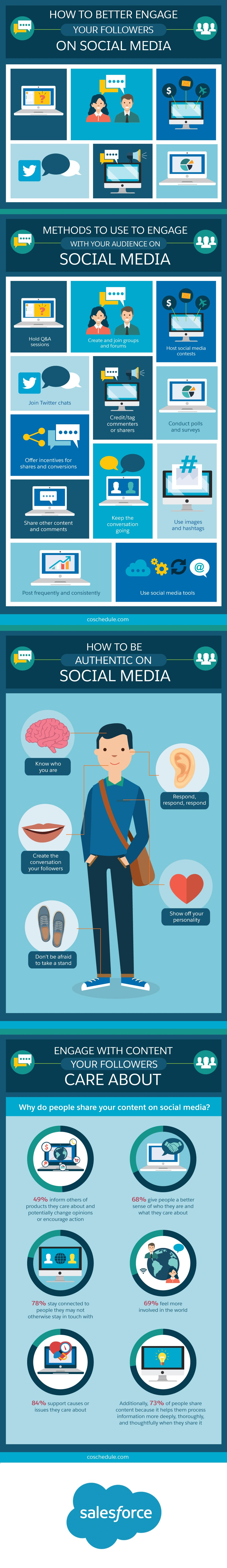 How to Better Engage Your Followers on Social Media - #infographic