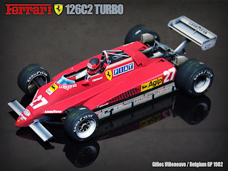Ferrari 126C2 Turbo - Gilles Villeneuve - San Marino and Belgium GP 1982 (1/12) by Sunny78