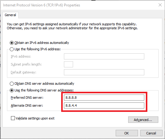 How To Change DNS server in Windows