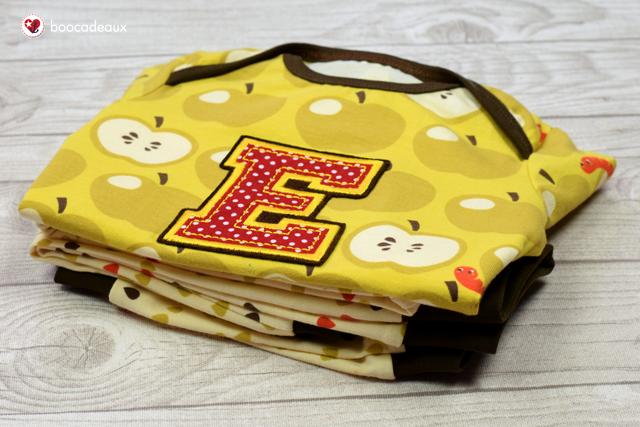 Klimperkleines Babyshirt und Hose aus Äpfel mit Wurm