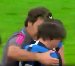 Pictures: Real Madrid youth manager Raul cheers distraught Inter youngster after defeat