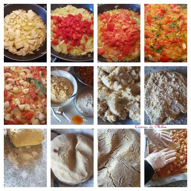 Empanada de volandeiras con masa de maíz