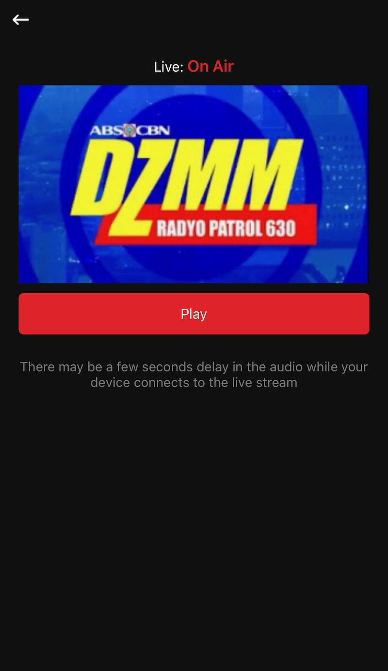 You can stream DZMM on ABS-CBN News app