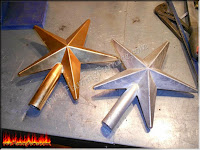Casting aluminum star using a homemade foundry
