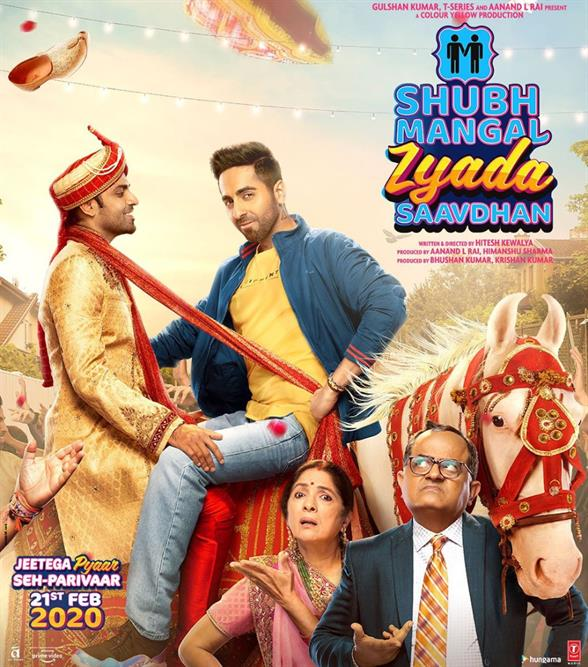 Ayushmann Khurrana, Jitendra Kumar, Neena Gupta, Gajraj Rao film Shubh Mangal Zyada Saavdhan Crosses 50 Crore Mark in 9 days, 4th Bollywood Highest-Grossing of 2020 Wikipedia