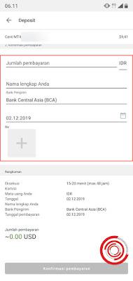 4. Terakhir masukan Jumlah Pembayaran dalam bentuk rupiah, Nama Lengkap, dan Bukti transfer seperti Screenshot jika menggunakan Internet Banking dan Mobile Banking dan struk jika lewat mesin ATM.