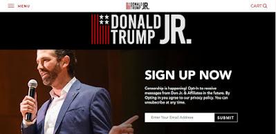 trump junior official website images, screenshot