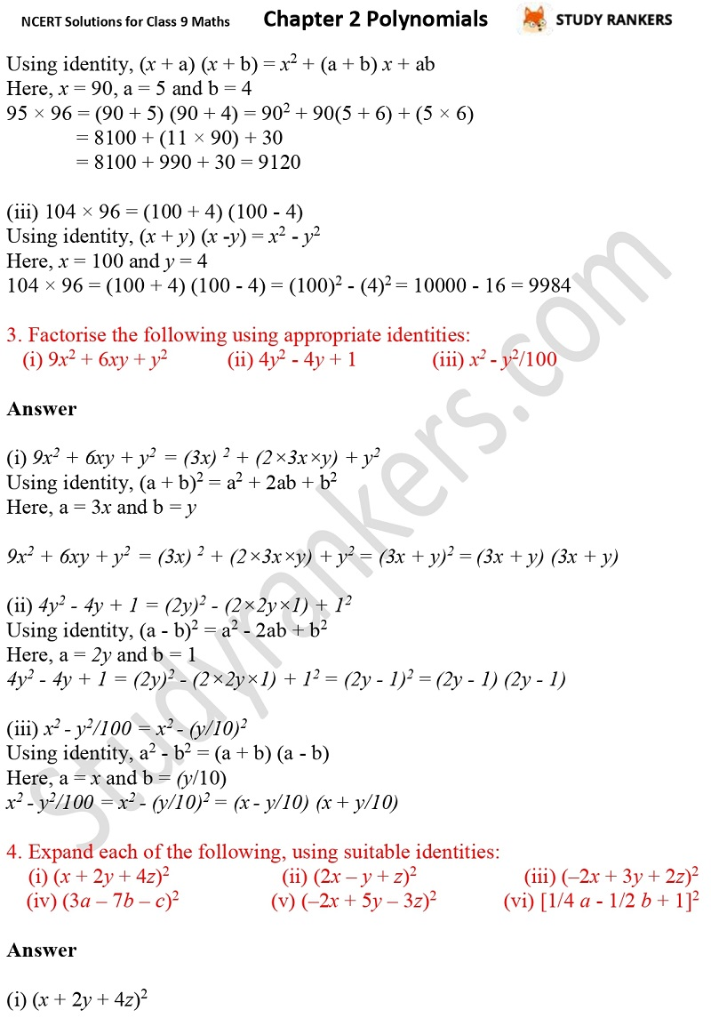NCERT Solutions for Class 9 Maths Chapter 2 Polynomials Part 20