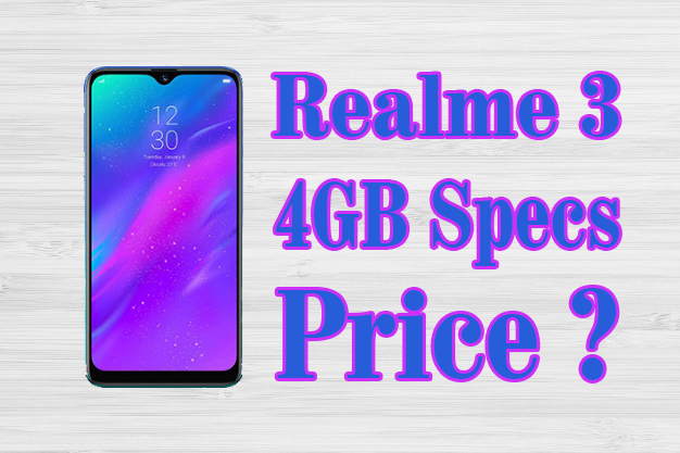 Realme 3 4GB Price and Specifications Full Details