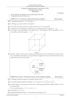 Subiecte matematica - evaluare nationala, sesiunea speciala pentru olimpici 2013