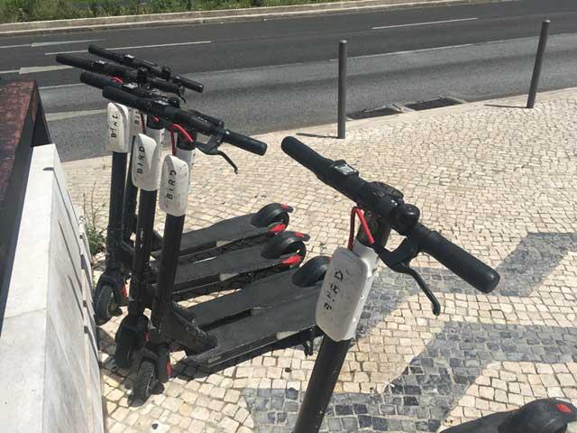 Micro ebikes in Lisbon