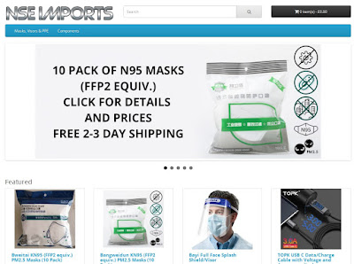 NSE Imports, buy your FFP2/N95 Masks here.
