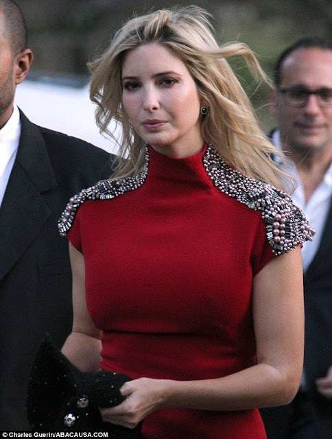 Ivanka Trump slips into a chic scarlet dress at equestrian show