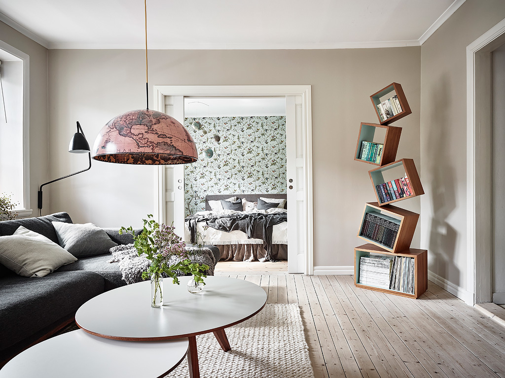 pastel color, interior design, scandinavian interior, wal lart, plants, boho chic, couch, pastel colors, globus lamp, floral wallpaper