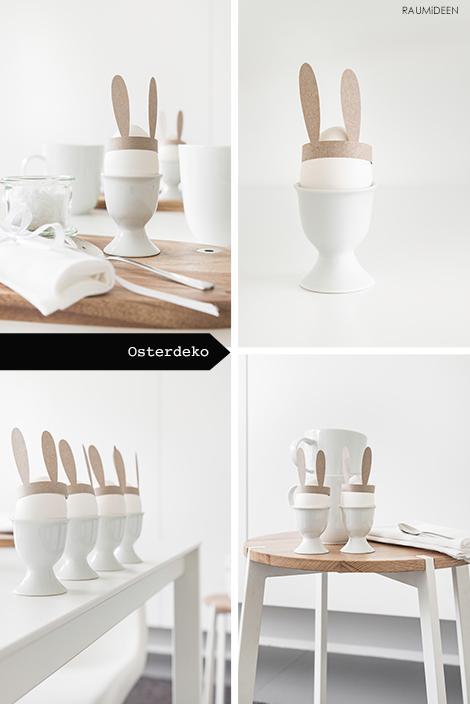 Hasenohren aus Papier für das Osterei - Tischdeko!