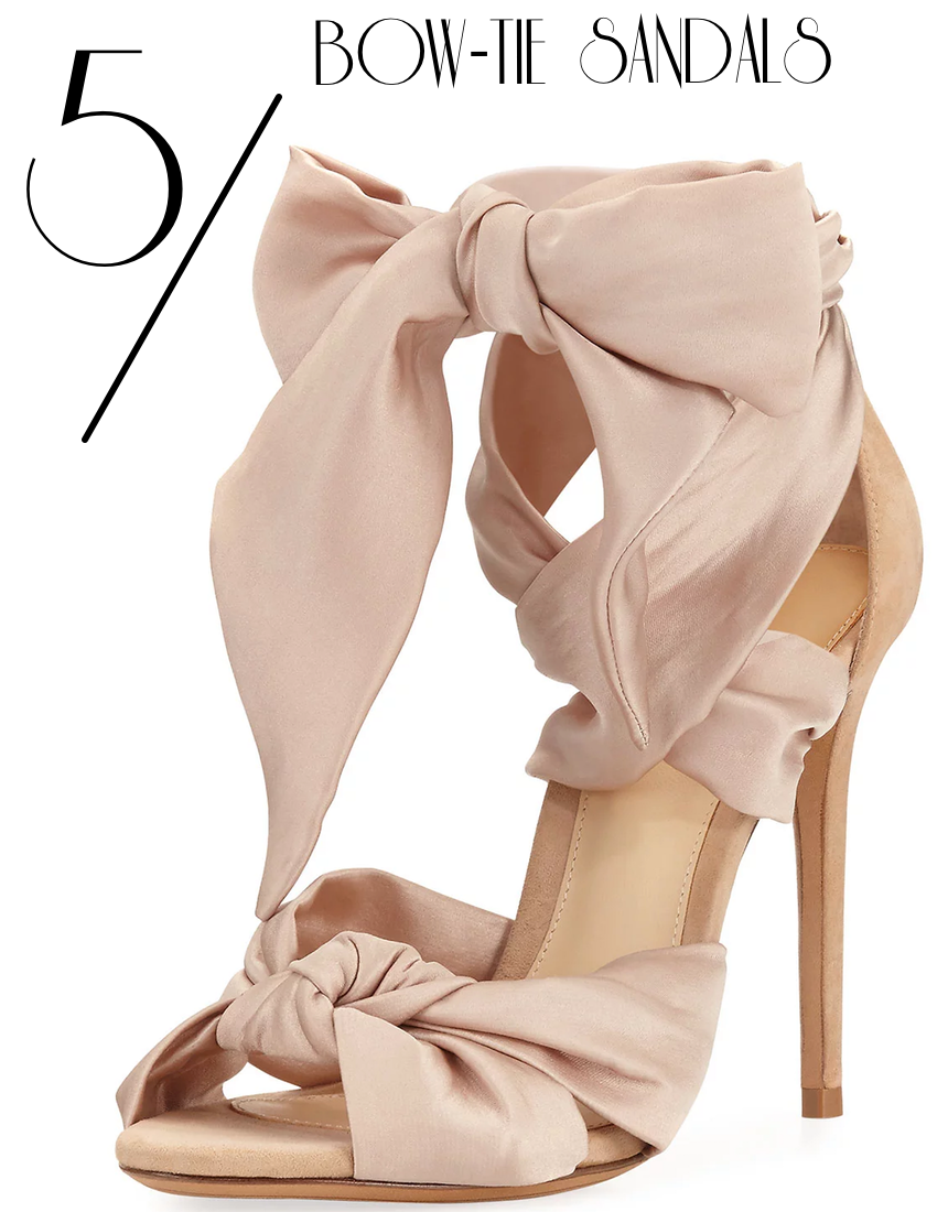Alexandre Birman Katherine Knotted Satin & Suede Sandal, Neutral