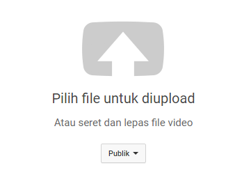Pilih File Untuk di Upload ke Youtube