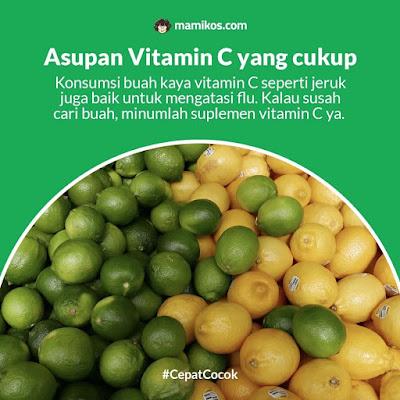 Asupan Vitamin C yang cukup di musim hujan