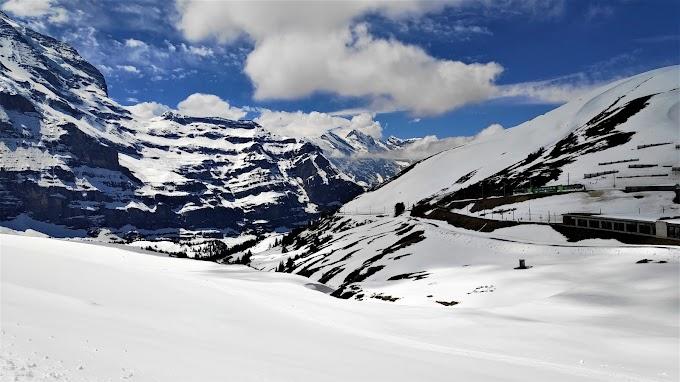 Train through Icy Alps