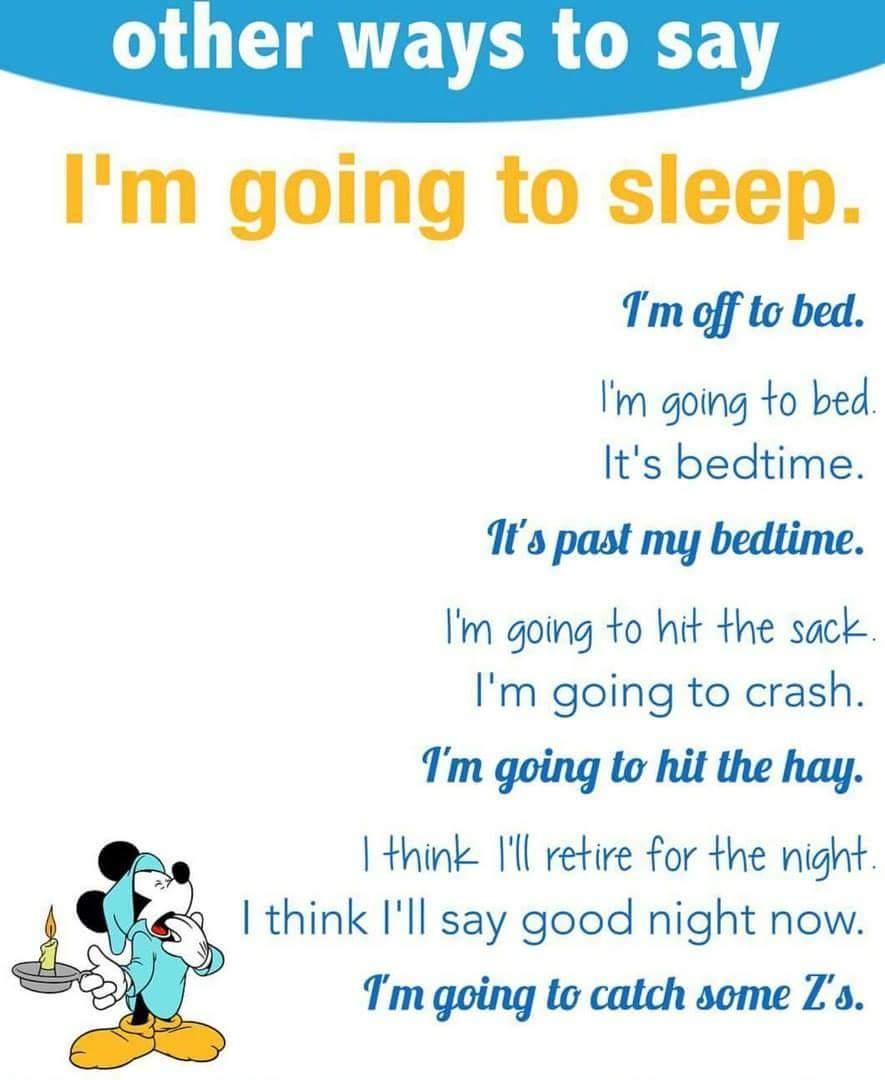 تعليم لغة انحليزية ، كلمات و تعبيرات تقال عند النوم sleeping