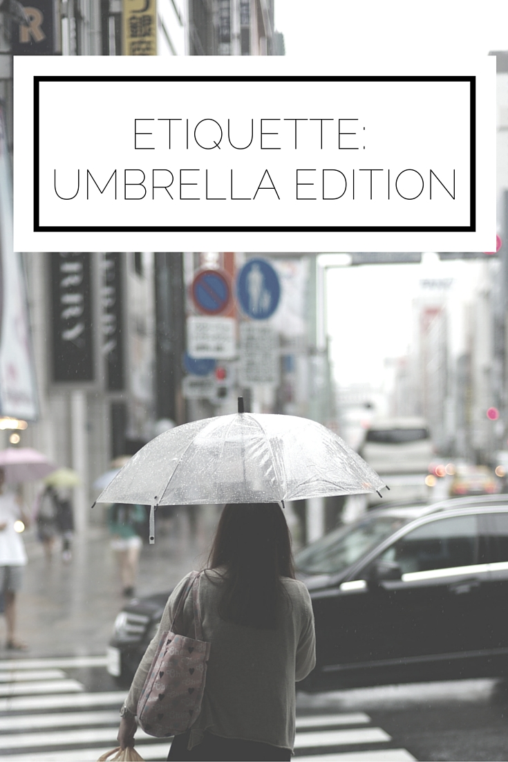 Click to read now or pin to save for later! Yes, believe it or not, there is etiquette for using an umbrella! Make sure you know it before the next spring shower