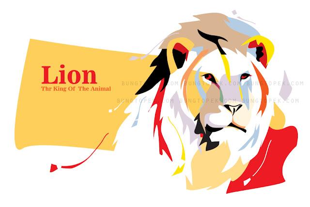 Lion in Pop Art Portrait