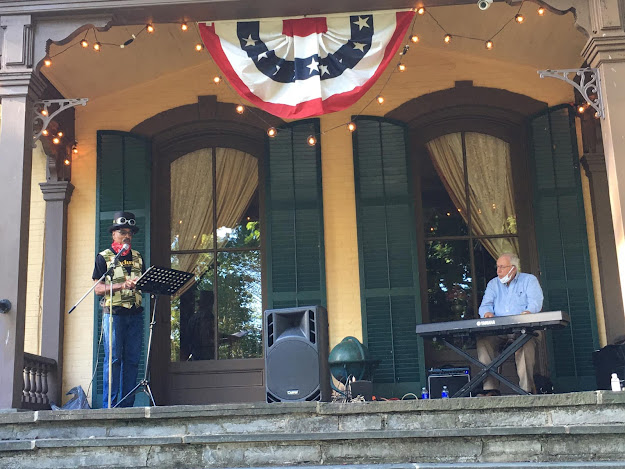 bill berry jr and dick ford at the Seward House Museum First Friday Event september 4 2020