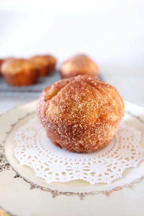 cinnamon sugar breakfast puff on plate