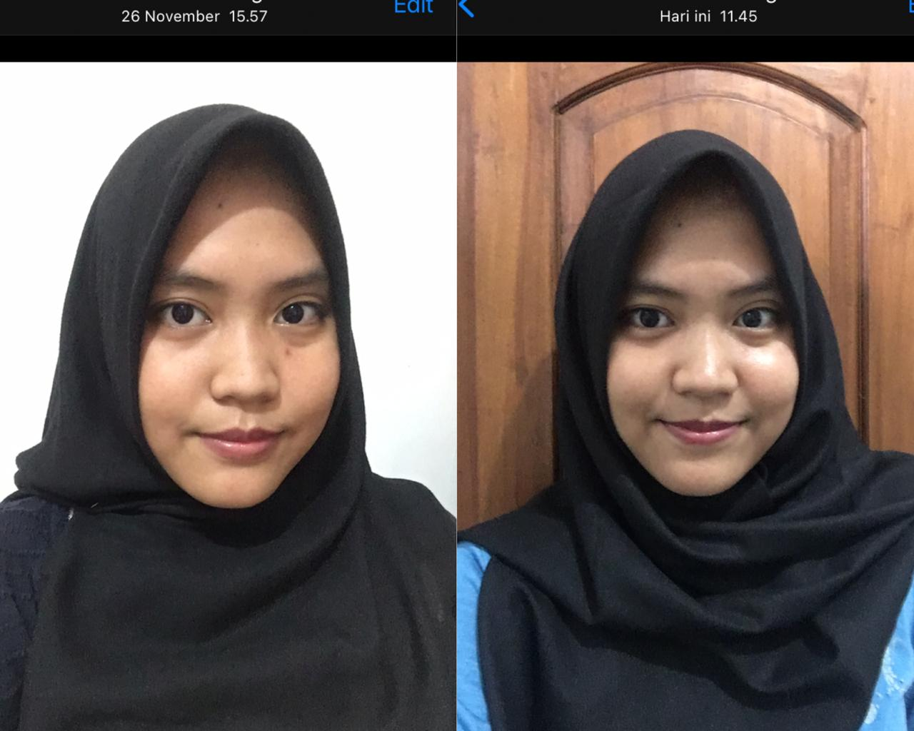 before after use skincare