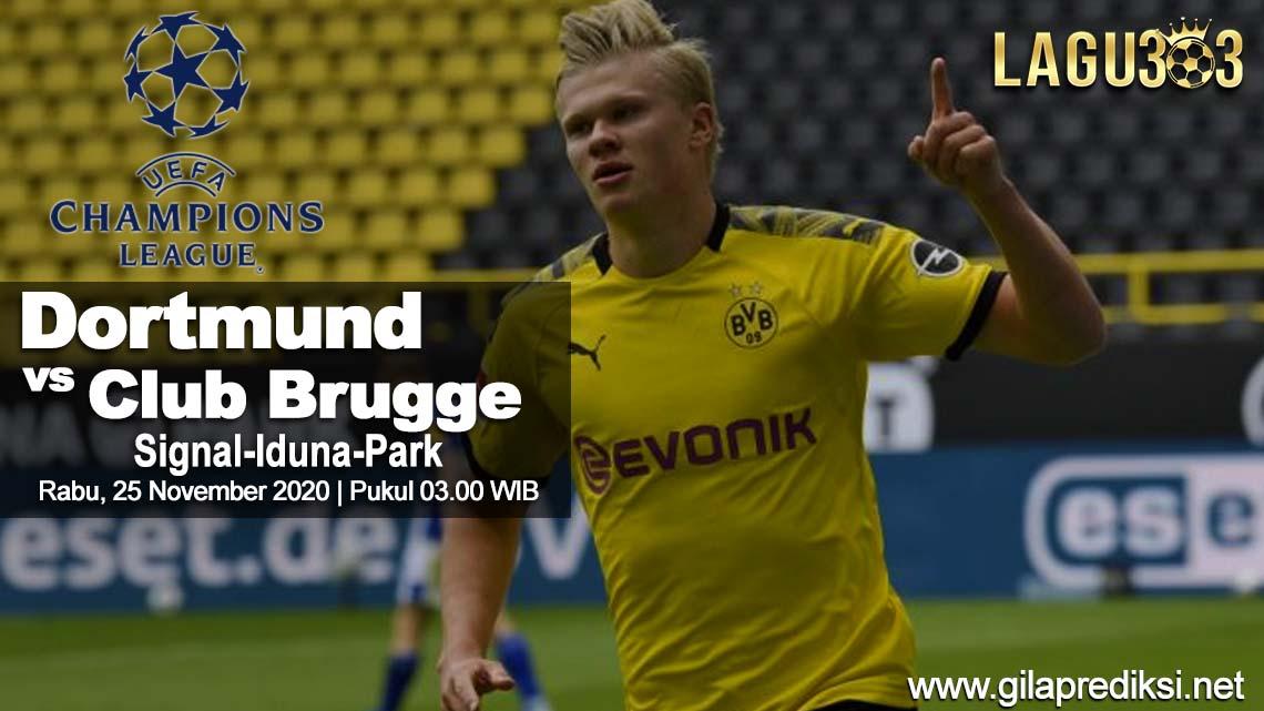 Prediksi Borussia Dortmund vs Club Brugge 25 November 2020pukul 03:00 WIB