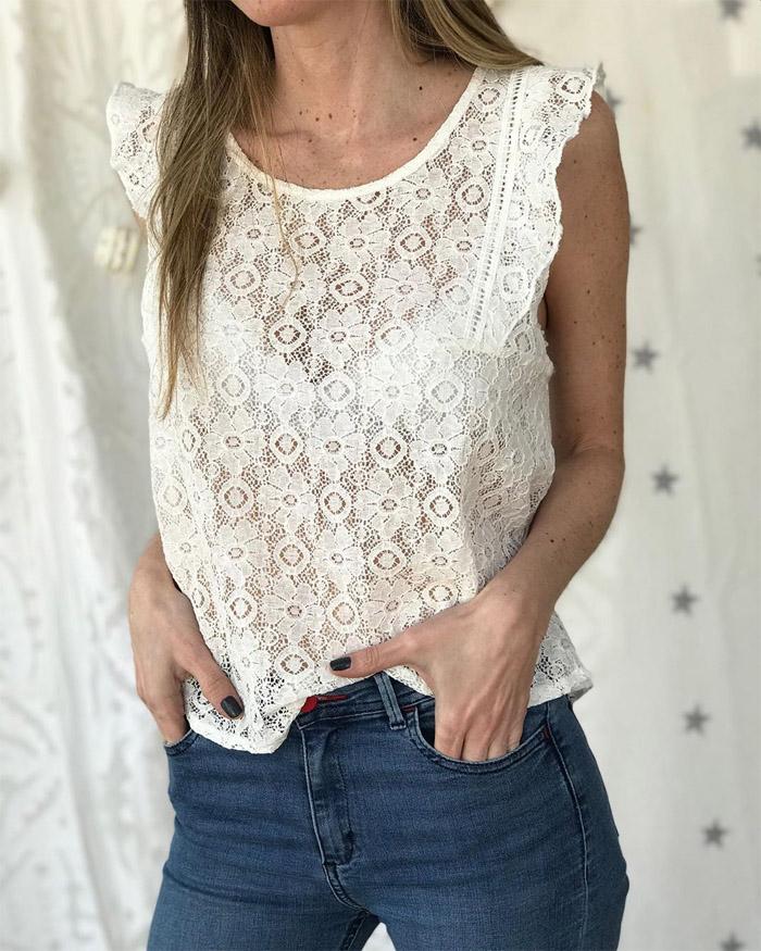 Blusas con encaje primavera verano 2020 moda mujer 2020.