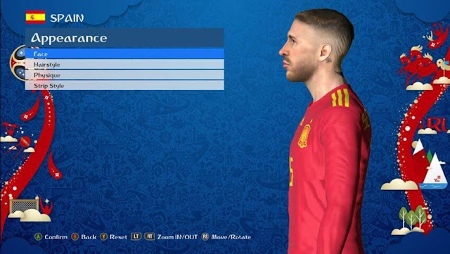 Sergio Ramos New Face PES 2017