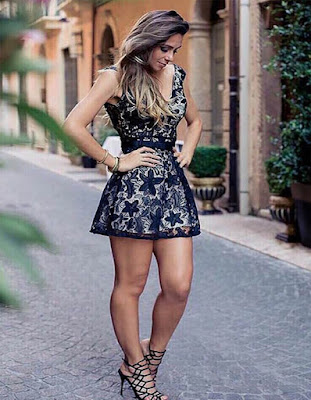 vestido corto negro transparente